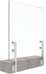 bv2500s иноксови колонки за стъклени парапети със страничен монтаж