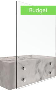 bv 3500 система за стъклени парапети - иноксови стъклени държачи за страничен монтаж