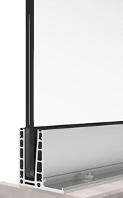 bv 6500 L-shaped glass railing system