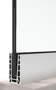 BV6500 система за стъклени парапети подов монтаж