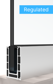 bv 9900 регулируем стъклен парапет