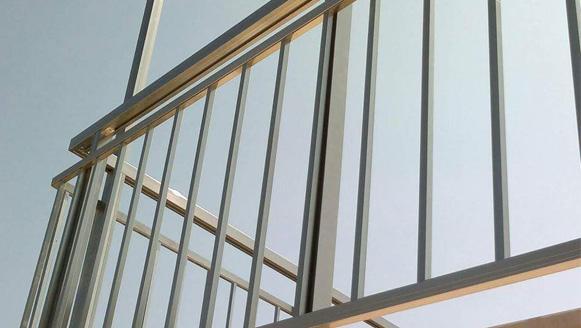 square aluminium railing