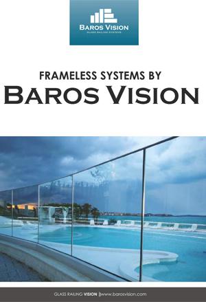 copertina catalogo ringhiere in vetro baros vision
