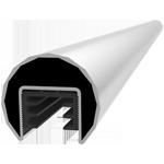 Corrimano tondo per ringhiera in vetro WX 6022
