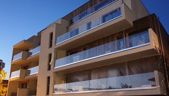 ringhiere in vetro per il terrazzo con vetro trasparente