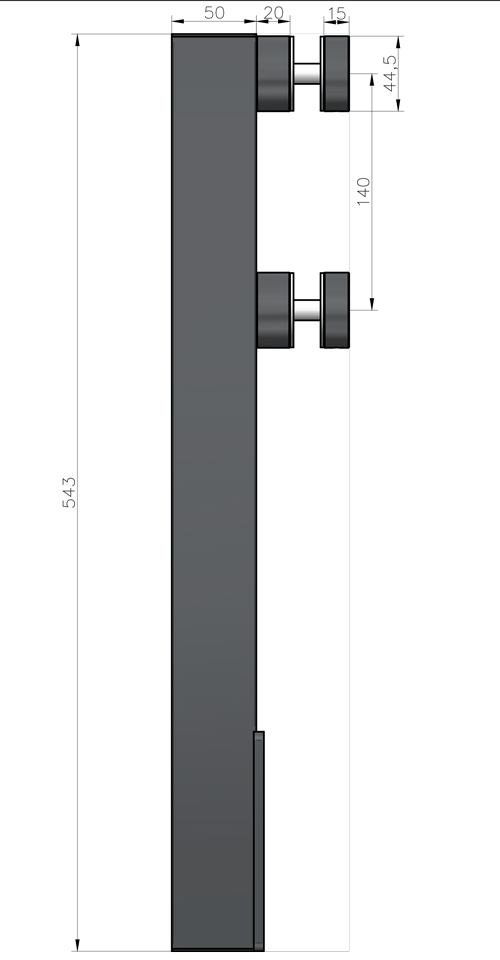 technical drawing for bv2500SM