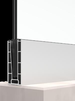 BV7500 бюджетен профил за стъклен парапет подов монтаж
