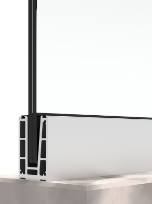 bv4500 Budget Kompaktprofil für Glasgeländer Bodenmontage