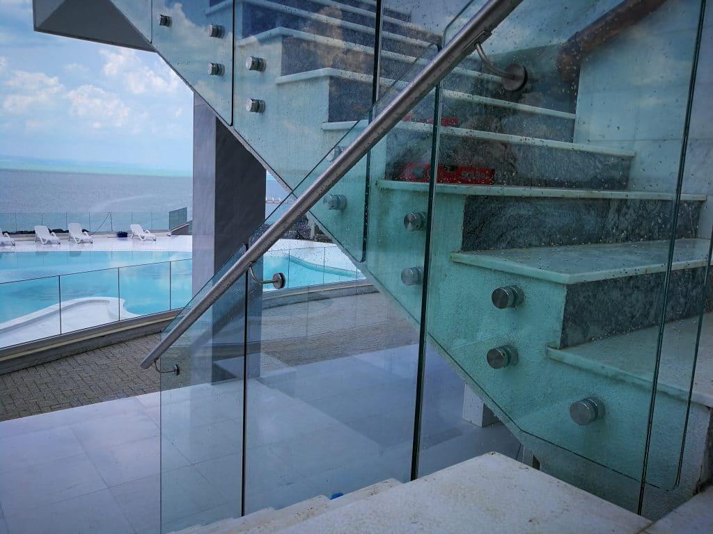 bv3500rs регулируеми държачи за стъкло с кръгла алуминиева ръкохватка