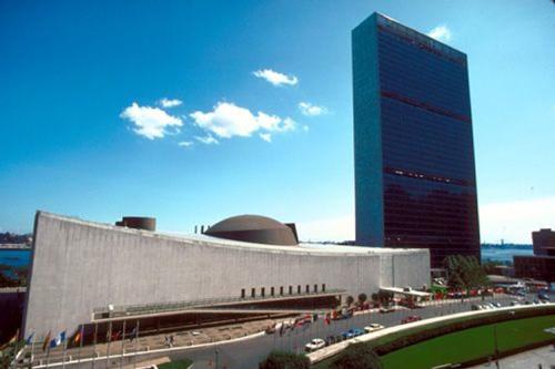 проект на Сканска - обновена сграда на ООН
