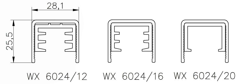 wx6024 технически чертеж за ръкохватка за стъклен парапет