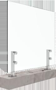 bv2500 base mount inox glass railing system