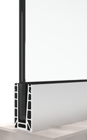 bv6500 sistema di ringhiera in vetro con montaggio superiore
