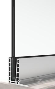 bv6500L sistema di ringhiera in vetro a forma di L