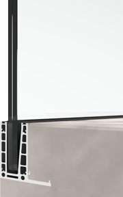 bv6500LU L-shaped integrated mount glass railing system