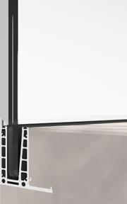 bv6500LU Supporto integrato per ringhiera in vetro a forma di L
