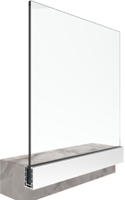 bv9900S sistema di ringhiera in vetro regolato a montaggio laterale