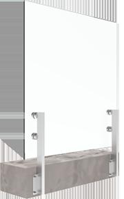 sistema di ringhiera in vetro inox per montaggio laterale bv2500S