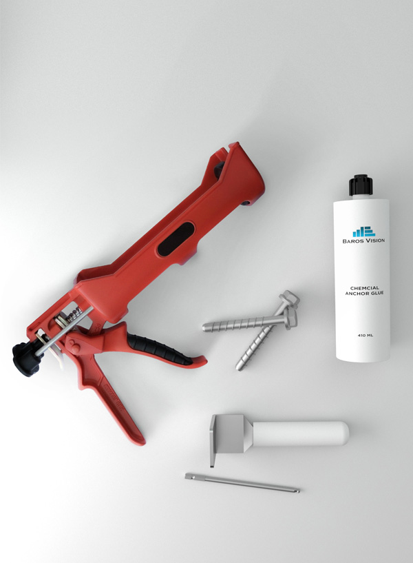 tools and anchoring for glass railings from baros vision